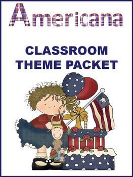 Americana Classroom Theme - Back to School