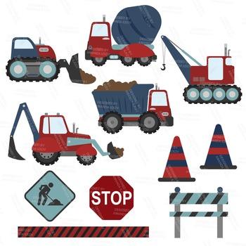 Americana Construction Clipart & Vectors