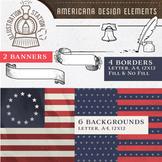 Americana Design Elements Clipart