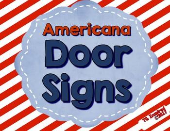 Americana ---- Door Signs & Door Reminders