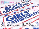 Americana Hall Passes Freebie