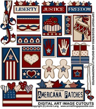 Americana Patches Clipart