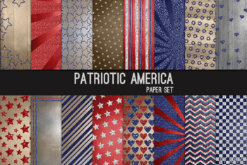 Americana Red White Blue 12x12 Printable Scrapbook Paper Texture Background