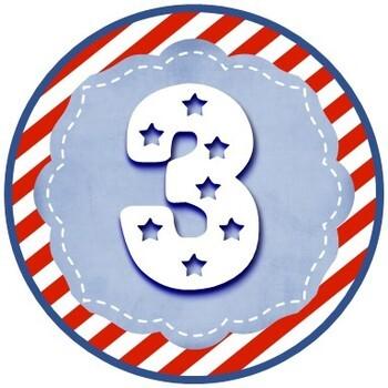 Americana -- Table/Desk/Calendar Numbers 1-31 [Dollar Deal]
