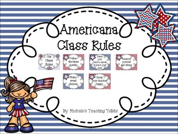 Classroom Decor Bundle Set: Americana Theme