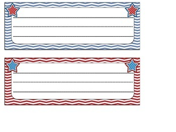 Desk Tags: Americana Themed