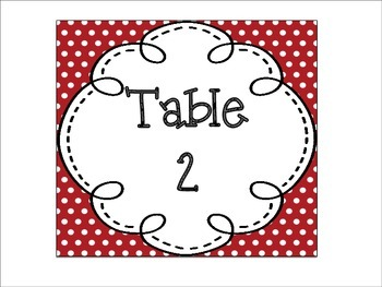 Table Signs: Americana Themed