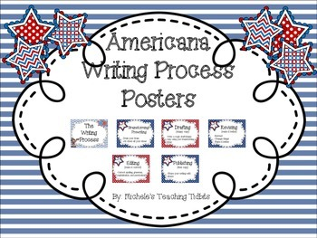 Americana Themed Writing Process Posters