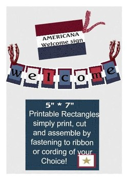 Americana Welcome Classroom Cut and String Banner