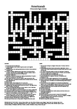 Americanah - Crossword Puzzle