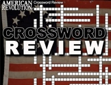 American Revolution Crossword Puzzle - 34 Terms+Key