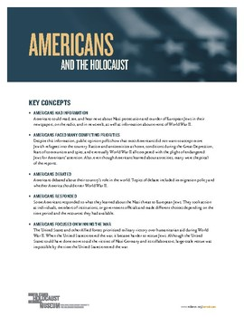 Americans and the Holocaust: Key Concepts
