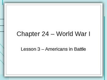 World War I - Americans in Battle PowerPoint