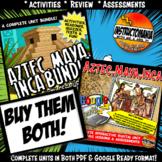 Americas Aztec, Maya, Inca Complete Unit & Google Ready Combined History Bundle