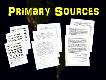 Americas Bundle (Olmec Maya Inca Aztec) 10 PPTs & 5 primary sources & other docs