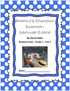 America's Champion Swimmer CCSS Comprehension Booklet Reading Street Unit 4
