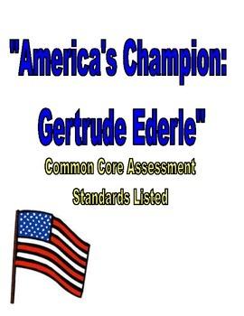 America's Champion Swimmer: Gertrude Ederle Assessment Reading Street 3rd Grade