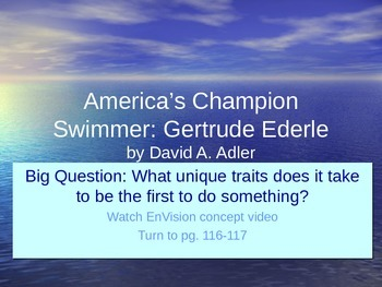 America's Champion Swimmer PowerPoint Reading Street 3.4.4
