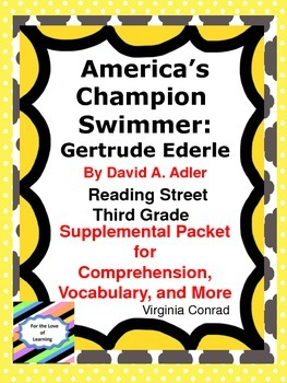 America's Champion Swimmer--Supplemental Packet--Reading Street Grade 3