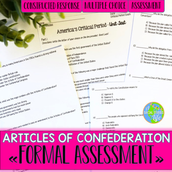 Articles of Confederation Unit Test