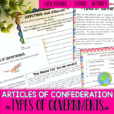 Articles of Confederation Types of Governments