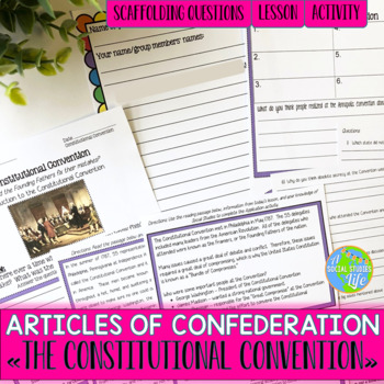 Articles of Confederation The Constitutional Convention