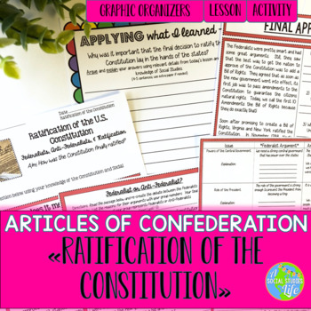 Articles of Confederation Ratification of the Constitution