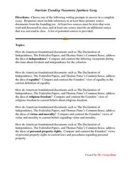 America's Founding Documents Synthesis Essay
