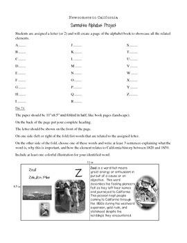 America's Interest in California Alphabet Book