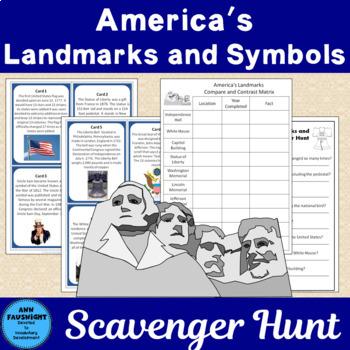 America's Landmarks and Symbols Scavenger Hunt