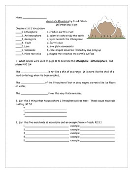 America's Mountains Informational Text Nonfiction Book Study