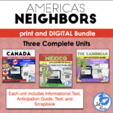 America's Neighbors: Canada, Mexico, & Caribbean complete units, complex text
