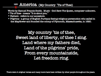 America's Patriotic Music - Historical Timeline & Tidbits with Lyrics