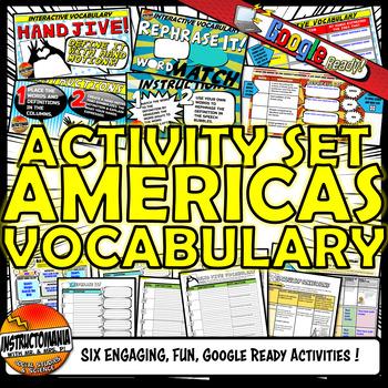 Americas Interactive Vocabulary Activity Set Google Ready- Aztec, Maya, and Inca