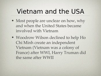 America's involvement in Vietnam