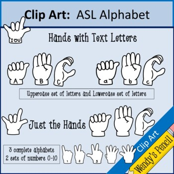 Americn Sign Language (ASL) Clip Art
