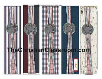 Americna Theme Bookmarks Cut and Laminate