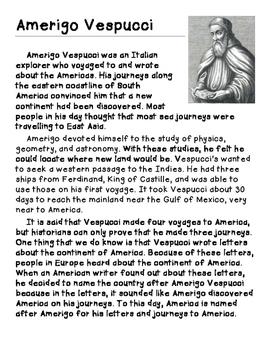 Amerigo Vespucci vs. Christopher Columbus- Opinion