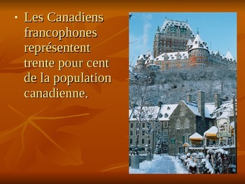 Amérique francophone French-Speaking America PowerPoint