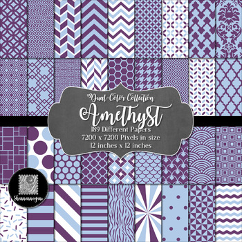 12x12 Digital Paper - Dual-Color Collection: Amethyst