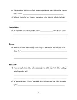 """Amigo Brothers"" Reading Guide Basic"