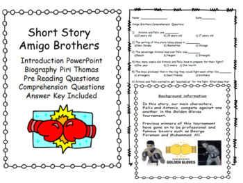 Amigo Brothers - Short Story - Author Biography - Comprehension Questions
