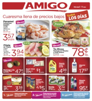 Amigo Shopping List-Food Vocabulary in Spanish