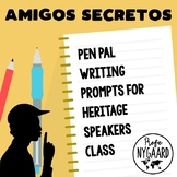 Amigos secretos: Secret Pen Pal Writing Prompts for Herita