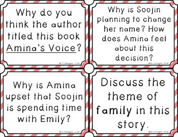 Amina's Voice Discussion Question Cards
