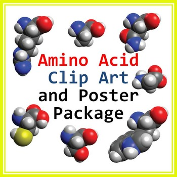 Amino Acid Clip Art and Biochemistry Poster Bundle: Personal or Commercial Use