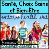 Santé Amis Sentiments Ontario Combined Grade Health French
