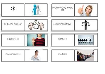 Amitié / Friendship / Friends / Characteristics of friends / Describing people