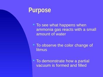 Ammonia Fountain Demonstration Presentation