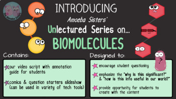 Amoeba Sisters Unlectured Series- BIOMOLECULES